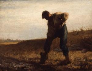 Home cavant la terra (Jean-François Millet)